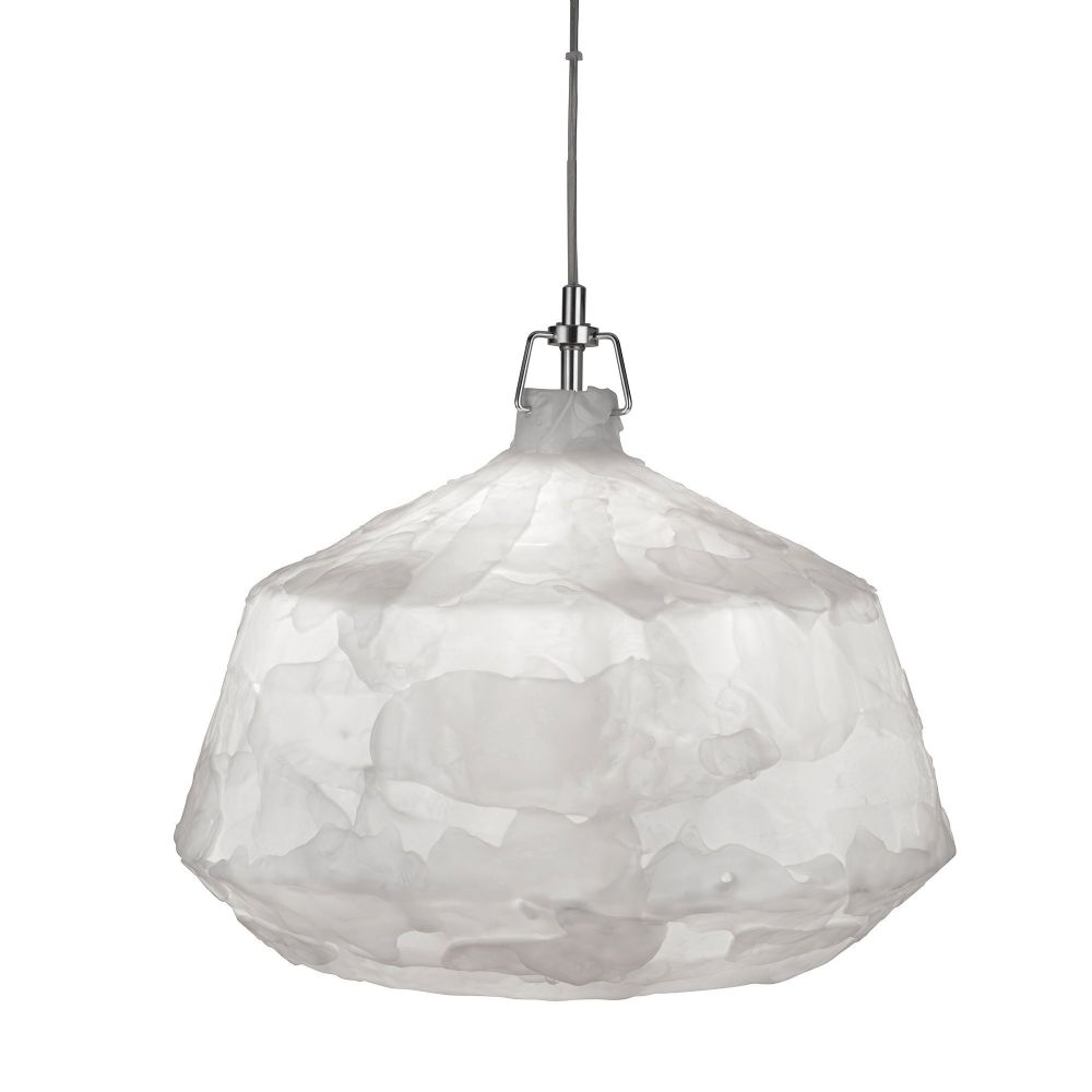 Clouds 1 Light Acrylic Pendant, White, 46Cm Dia 3396Wh